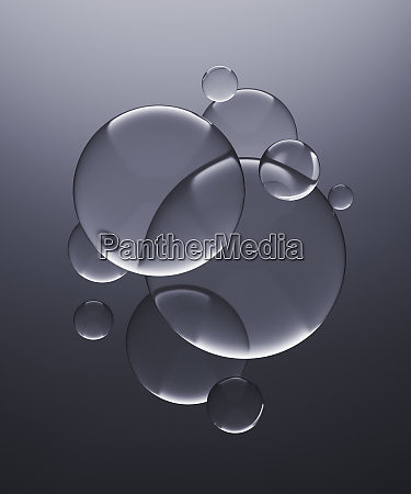 three dimensional render of transparent glass
