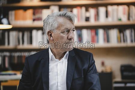 senior businessman looking worried portrait