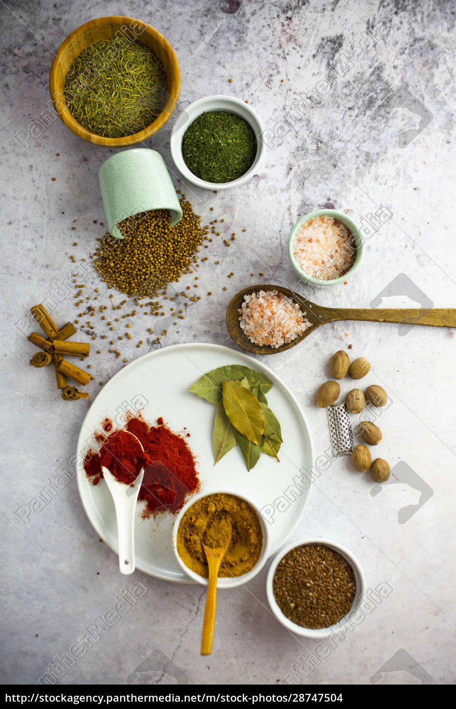 bowls, of, assorted, seeds, and, spices - 28747504