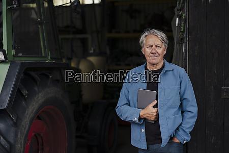 portrait of a confident senior man
