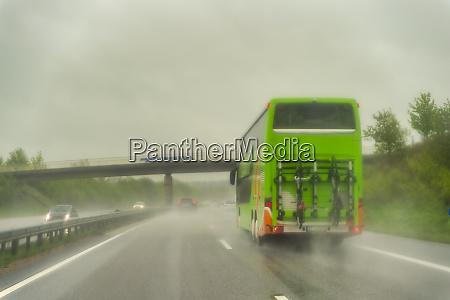 motorway during rain coach