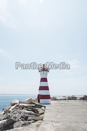 lighthouse at the coast peniche portugal