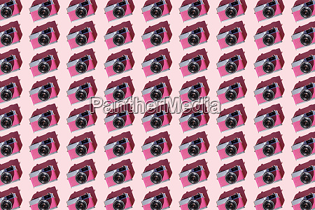 seamless pattern of rows of vintage
