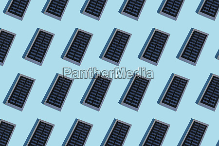 rows of portable solar panel on