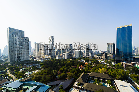 skyline of bangkok thailand