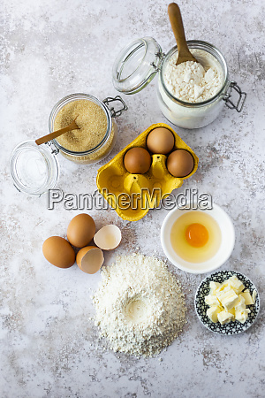 butter chicken eggs and jars of