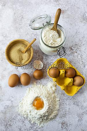 egg yolk in flour chicken eggs
