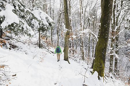 germany north rhine westphalia lone backpacker