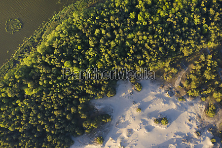 poland pomerania leba overhead view of