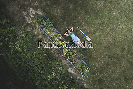 drone shot of woman with hands