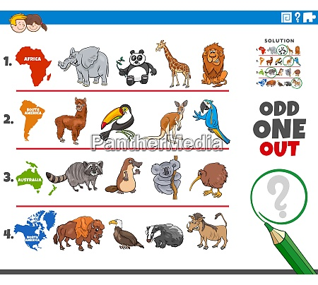 odd one out picture game with