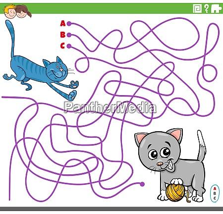 educational maze game with cartoon playful