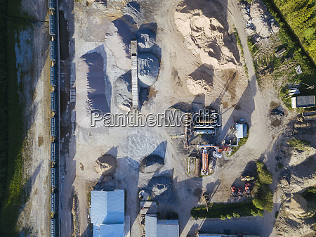 aerial view of asphalt plant