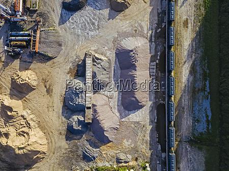 russia tikhvin aerial view of asphalt