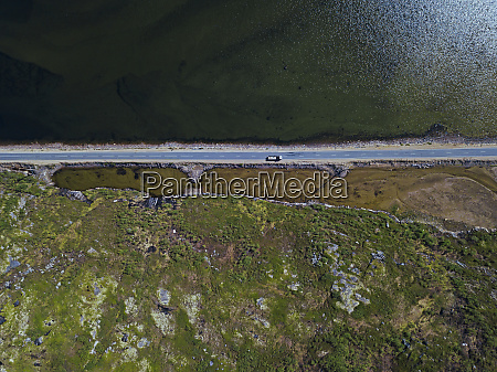 coastal road aerial view