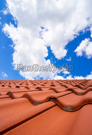 roof tiles on the roof with