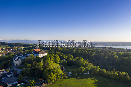 germany bavaria andechs drone view of