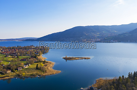 germany bavaria drone view of tegernsee