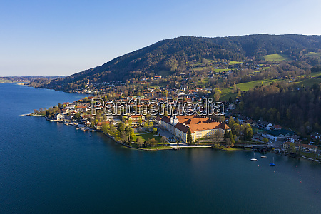 germany bavaria tegernsee drone view of