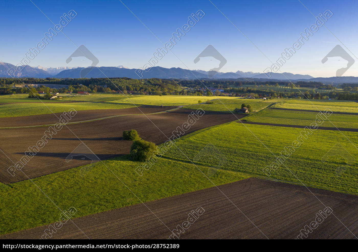 germany, , bavaria, , huglfing, , drone, view, of - 28752389