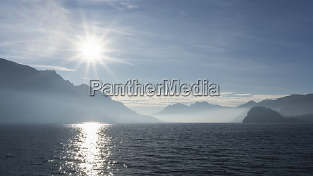panoramic view on lake como from