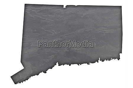 map of connecticut on dark slate