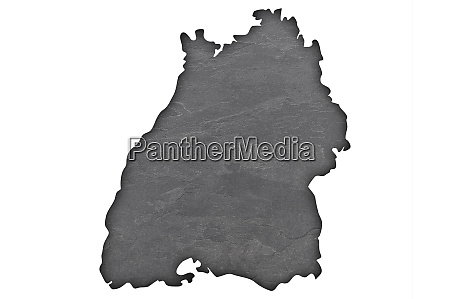 map of baden wuerttemberg on dark
