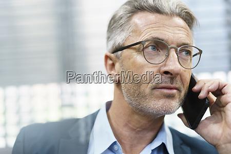 portrait of mature businessman on the