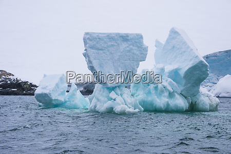 iceberg floating in south orkney islands