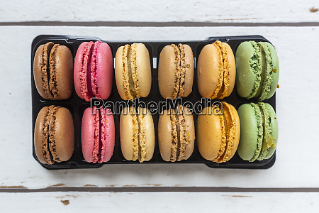 colorful macaroon biscuits