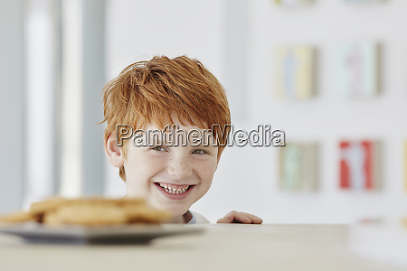 portrait of a cute boy at