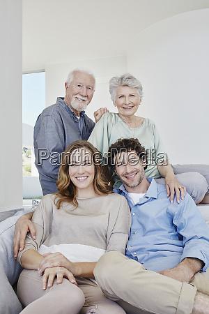 portrait of happy senior couple with