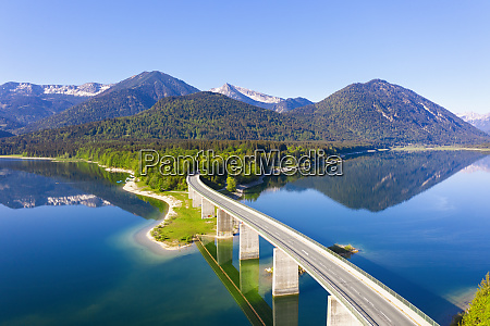 germany bavaria lenggries sylvenstein reservoir and