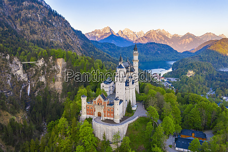 germany bavaria hohenschwangau drone view of