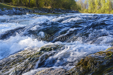 germany bavaria lenggries rapids of isar