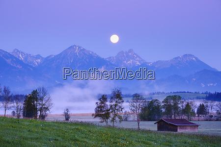 germany bavaria halblech bannwaldsee lake at