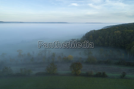 germany bavaria drone view of franconian