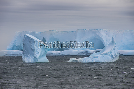 iceberg floating near shore of elephant