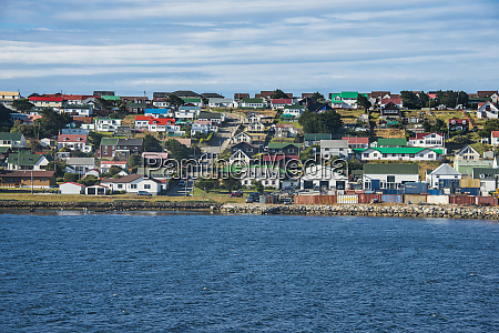 uk falkland islands stanley colorful houses