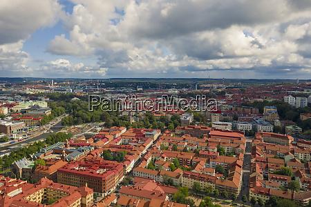 sweden gothenburg aerial view of city