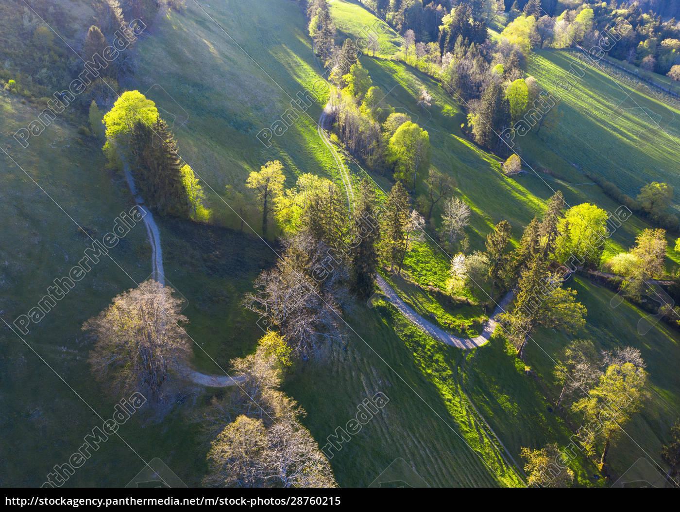 germany, , bavaria, , gaissach, , drone, view, of - 28760215