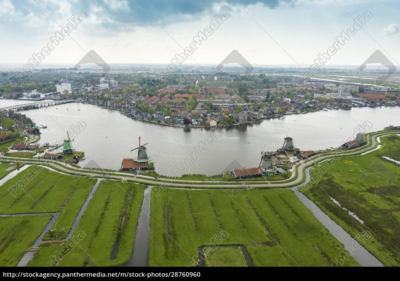 netherlands, , north, holland, , zaandam, , aerial, view - 28760960