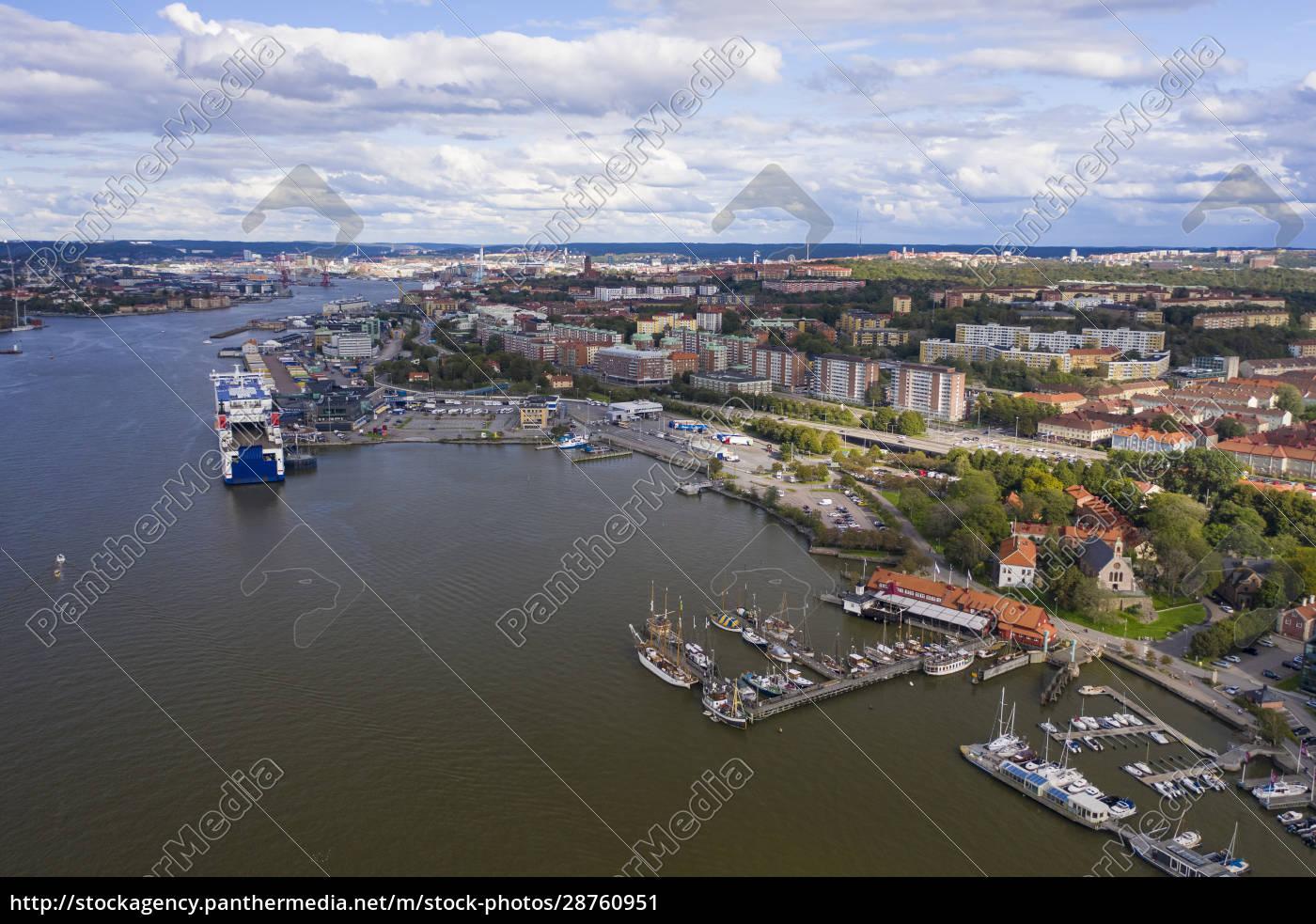 sweden, , gothenburg, , aerial, view, of, port - 28760951