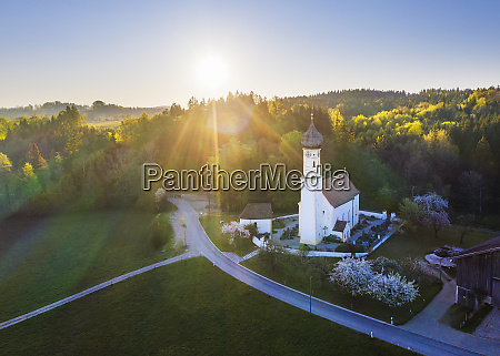 germany bavaria fischbach drone view of