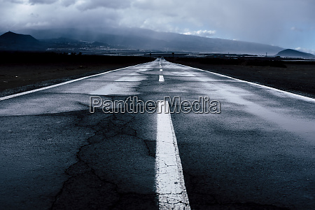 spain tenerife empty asphalt road on