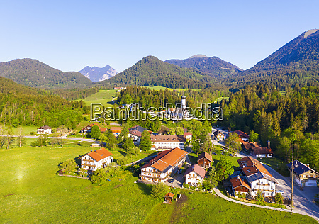 germany bavaria jachenau drone view of