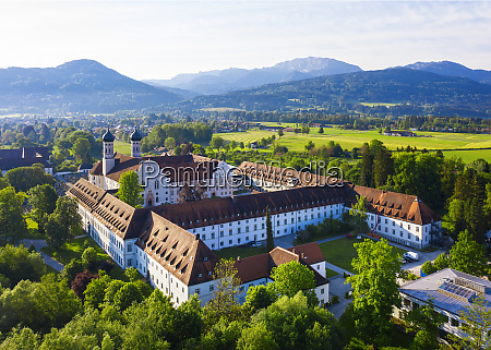 germany bavaria drone view of benediktbeuern