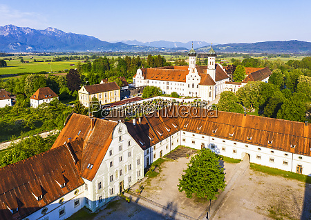 germany bavaria drone view of meierhof