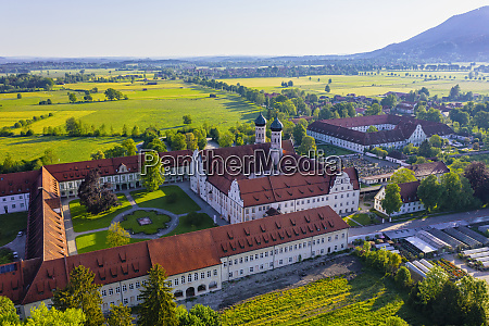 germany bavaria drone view of courtyard