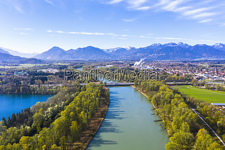 germany bavaria raubling drone view of